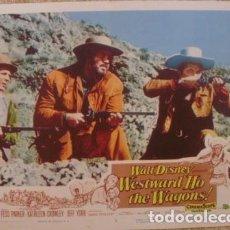 Cine: WALT DISNEY LOBBY CARD, WESTWARD HO THE WAGONS!. Lote 85390048