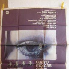 Cine: CARTEL CINE ORIG CUATRO MOSCAS SOBRE TERCIOPELO GRIS (1972) 70X80 / DARIO ARGENTO. Lote 85613288