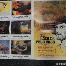 Cine: EL LOCO DEL PELO ROJO - KIRK DOUGLAS VAN GOGH ANTHONY QUINN GAUGUIN COLECCION 6 FOTOCROMOS Y POSTER. Lote 206403263