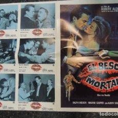 Cine: EL BESO MORTAL - RALPH MEEKER ROBERT ALDRICH MICKEY SPILLANE - COLECCION 6 FOTOCROMOS Y POSTER. Lote 85761344