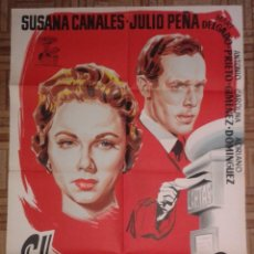 Cine: EL ANÓNIMO. POSTER ESTRENO 70X100. JANO. SUSANA CANALES, JULIO PEÑA. LITOGRAFÍA. Lote 85982060