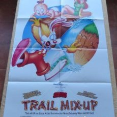 Cine: TRAIL MIX-UP MOVIE POSTER, ORIGINAL, FOLDED, ONE SHEET, YEAR 1993, MADE IN U.S.A., DOUBLE SIDED. Lote 86241620