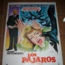 Cine: LOS PAJAROS ALFRED HITCHCOCK TIPPI HEDREN ROD TAYLOR POSTER ORIGINAL 70X100. Lote 110739262