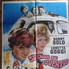 Cine: SUEÑOS DE JUVENTUD. POSTER ESTRENO 70X100. BOBBY SOLO, LORETTA GOGGI. Lote 86266544