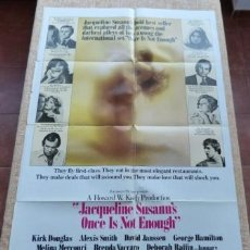 Cine: ONCE IS NOT ENOUGH MOVIE POSTER, ORIGINAL, FOLDED, ONE SHEET, YEAR 1975, LITHO IN U.S.A.. Lote 86300764