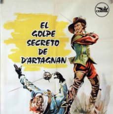 Cine: EL GOLPE SECRETO DE DÁRTAGNAN. GEORGE NADER. CARTEL ORIGINAL 1964. Lote 86441148