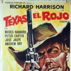 Cine: TEXAS EL ROJO. LEO COLMAN. CARTEL ORIGINAL 1968. 70X100. Lote 86442592