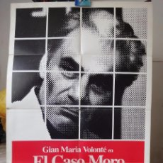 Cine: POSTER ORIGINAL IL CASO MORO THE MORO AFFAIR GIAN MARIA VOLONTE GIUSEPPE FERRARA 1988. Lote 86518956