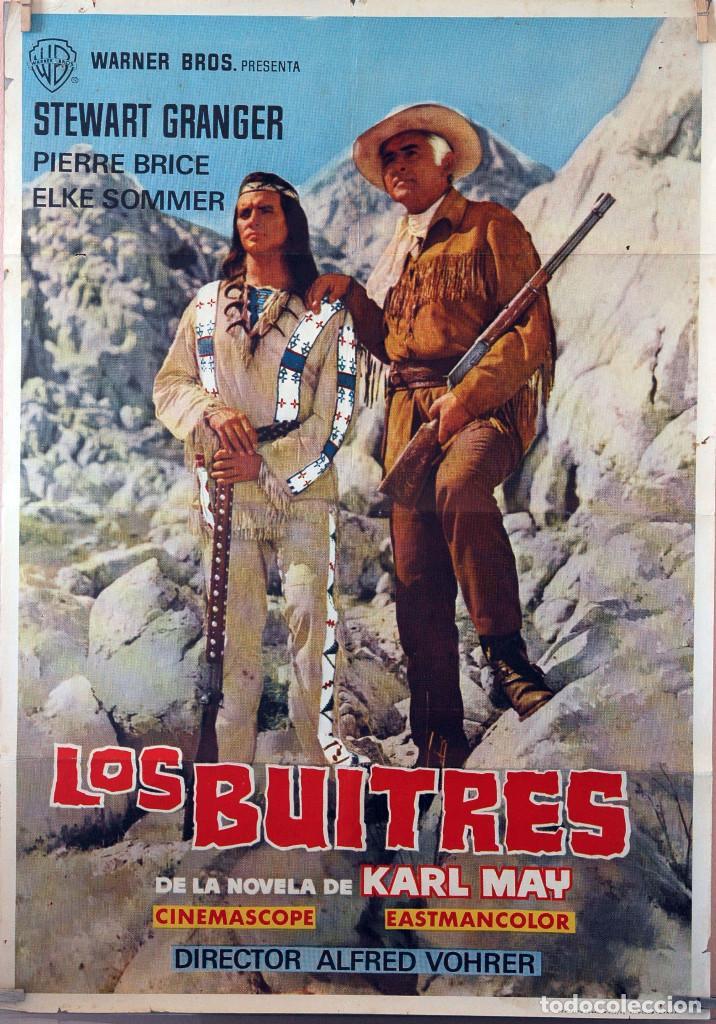 LOS BUITRES. STEWART GRANGER. CARTEL ORIGINAL 1966. 70X100 (Cine - Posters y Carteles - Westerns)