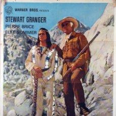 Cine: LOS BUITRES. STEWART GRANGER. CARTEL ORIGINAL 1966. 70X100. Lote 86568780