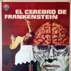 Cine: EL CEREBRO DE FRANKENSTEIN. PETER CUSHING-TERENCE FISCHER. CARTEL ORIGINAL 1970. 70X100. Lote 86570664