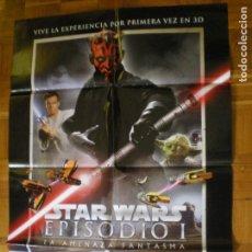 Cine: POSTER CARTEL DE CINE. STAR WARS EPISODIO I LA AMENAZA FANTASMA EN 3D. GEORGE LUCAS. Lote 86832940