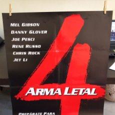 Cine: CARTEL ORIGINAL ARMA LETAL 4 (PRÓXIMAMENTE) 70 X100 POSTER. Lote 86838003