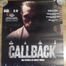 Cine: CALLBACK - APROX 70X100 CARTEL ORIGINAL CINE (L40). Lote 87093876