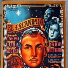 Cine: EL ESCÁNDALO - ARMANDO CALVO, MANUEL LUNA, MERCEDES VECINO - PÓSTER LITOGRÁFICO TAMAÑO 100X67. Lote 87245360