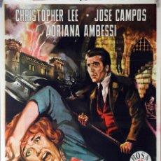Cine: LA MALDICIÓN DE LOS KARNSTEIN. CHRISTOPHER LEE. CARTEL ORIGINAL 1964. 70X100. Lote 87535796