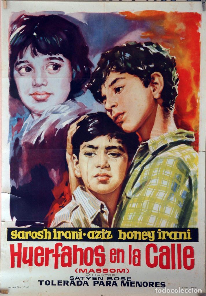 HUÉRFANOS EN LA CALLE. CARTEL ORIGINAL 1962. 70X100 (Cine- Posters y Carteles - Drama)