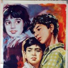 Kino - HUÉRFANOS EN LA CALLE. CARTEL ORIGINAL 1962. 70X100 - 87601936