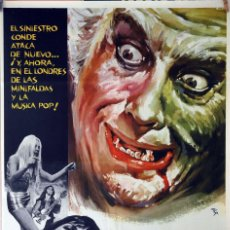 Cine: DRÁCULA 73. CHRISTOPHER LEE-PETER CUSHING. CARTEL ORIGINAL 1973. 70X100. Lote 170557284