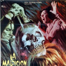 Cine: LA MALDICIÓN DE LA CALAVERA. PETER CUSHING-CHRISTOPHER LEE. CARTEL ORIGINAL 1966. 70X100. Lote 87621960