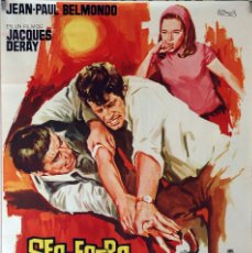 Cine: SECUESTRO BAJO EL SOL. JEAN PAUL BELMONDO-JACQUES DERAY. CARTEL ORIGINAL 1965. 70X100. Lote 87660180