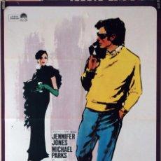 Cine: FALSO ÍDOLO. JENNIFER JONES. CARTEL ORIGINAL 1966. 70X100. Lote 87661088