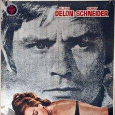Cine: LA PISCINA. ALAIN DELON-ROMY SCHNEIDER-JACQUES DERAY. CARTEL ORIGINAL 1969. 70X100. Lote 87661364