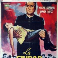 Cine: LA CIUDAD DE LOS NIÑOS. ARTURO DE CORDOVA-MARGA LÓPEZ. CARTEL ORIGINAL. 70X100. Lote 87663304