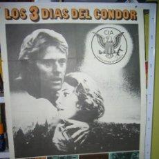 Cinema: LOS 3 DIAS DEL CONDOR ROBERT REDFORD SIDNEY POLLACK POSTER ORIGINAL 70X100 Q. Lote 87686180