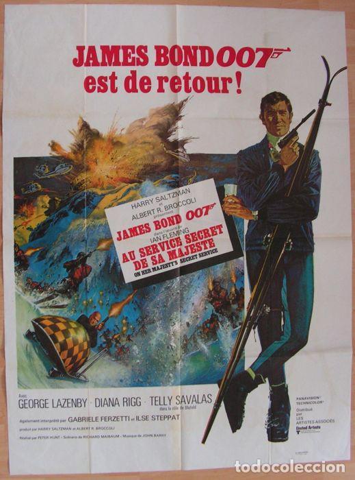 CARTEL. JAMES BOND 007 EST DE RETOUR!. ORIGINAL. MEDIDAS: 1.20 X 1.80M. VER FOTOS (Cine - Posters y Carteles - Acción)