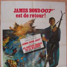 Cine: CARTEL. JAMES BOND 007 EST DE RETOUR!. ORIGINAL. MEDIDAS: 1.20 X 1.80M. VER FOTOS. Lote 87714792