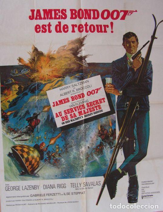 Cine: CARTEL. JAMES BOND 007 EST DE RETOUR!. ORIGINAL. MEDIDAS: 1.20 X 1.80M. VER FOTOS - Foto 2 - 224275555