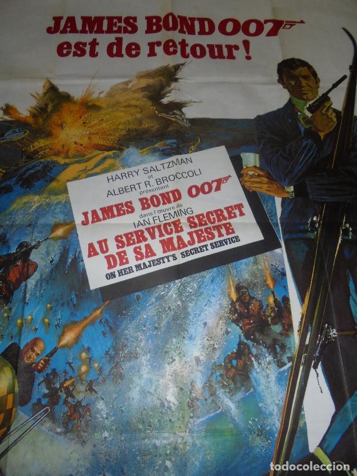 Cine: CARTEL. JAMES BOND 007 EST DE RETOUR!. ORIGINAL. MEDIDAS: 1.20 X 1.80M. VER FOTOS - Foto 4 - 224275555