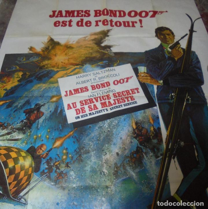 Cine: CARTEL. JAMES BOND 007 EST DE RETOUR!. ORIGINAL. MEDIDAS: 1.20 X 1.80M. VER FOTOS - Foto 7 - 224275555