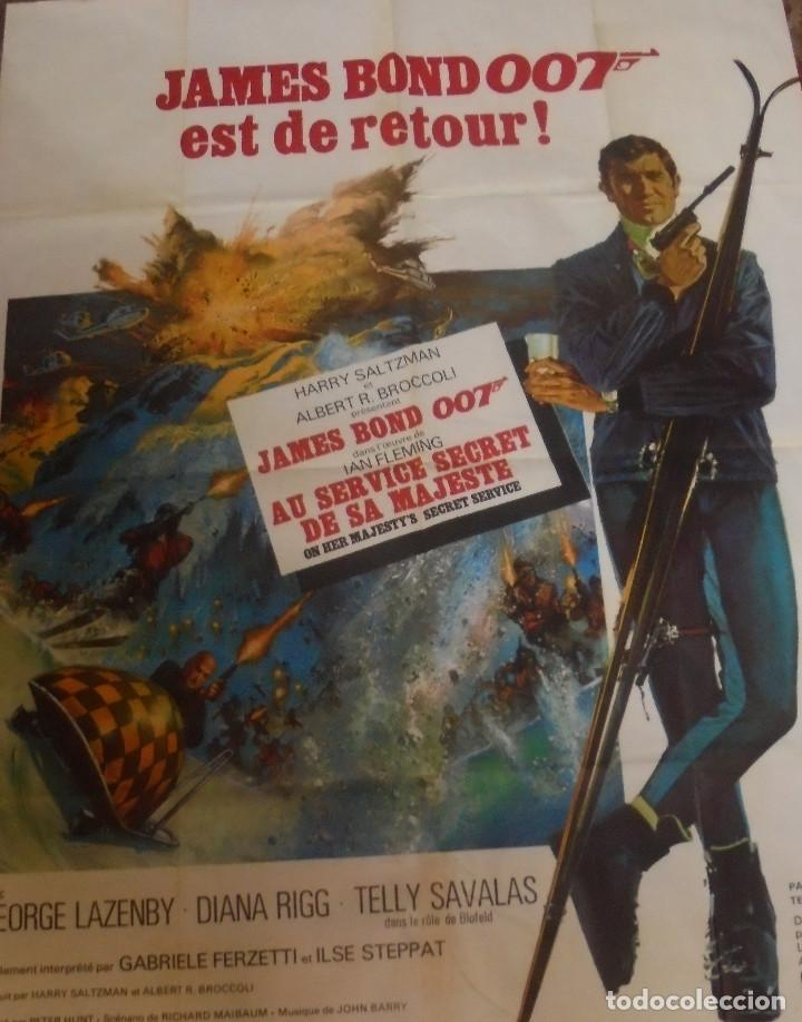 Cine: CARTEL. JAMES BOND 007 EST DE RETOUR!. ORIGINAL. MEDIDAS: 1.20 X 1.80M. VER FOTOS - Foto 8 - 224275555