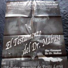 Cine: EL TESTAMENTO DEL DR. MABUSE (CARTEL ORIGINAL) . Lote 87833144