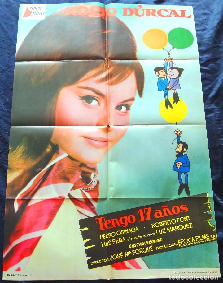 TENGO 17 AÑOS 1973 (CARTEL ORIGINAL ESTRENO EN ESPAÑA) ROCIO DURCAL (MARIETA) (Cine - Posters y Carteles - Clasico Español)