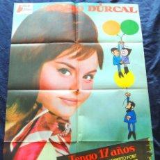 Cine: TENGO 17 AÑOS 1973 (CARTEL ORIGINAL ESTRENO EN ESPAÑA) ROCIO DURCAL (MARIETA). Lote 101183139