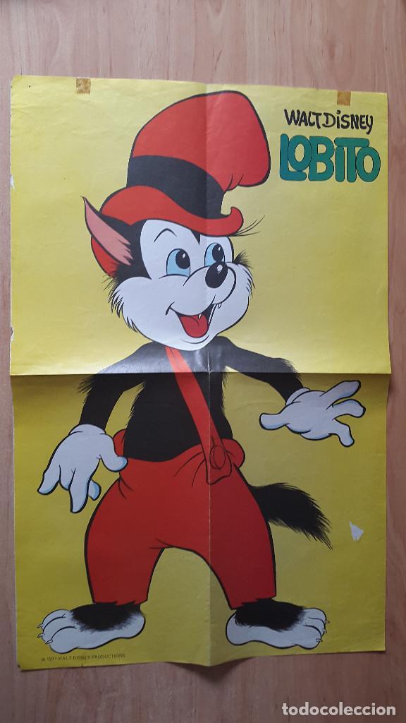 POSTER WALT DISNEY LOBITO - MEDIDAS 32 X 49,50 CM - AÑO 1972 (Cine - Posters y Carteles - Infantil)