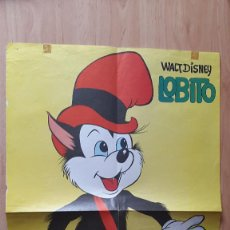 Cine: POSTER WALT DISNEY LOBITO - MEDIDAS 32 X 49,50 CM - AÑO 1972. Lote 88095568