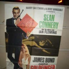 Cine: JAMES BOND CONTRA GOLDFINGER 007 SEAN CONNERY 1975 POSTER ORIGINAL 70X100 YY(1586). Lote 88132836