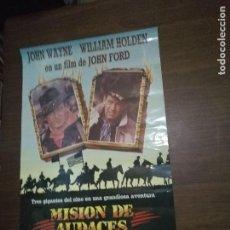 Cine: POSTER PELICULA MISION DE AUDACES JOHN WAYNE. Lote 88214708