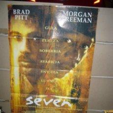 Cine: SEVEN BRAD PITT MORGAN FREEMAN POSTER ORIGINAL 70X100 YY(1606). Lote 88338360