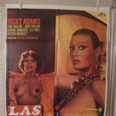 Cine: CARTEL CINE ORIG LAS DIOSAS DEL PORNO (1977) 70X100 / JESÚS FRANCO. Lote 88828628