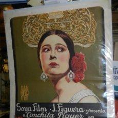 Cine: (M) CARTEL ORIGINAL DE CONCHA PIQUER - EL NEGRO QUE TENIA EL ALMA BLANCA 1927 BENITO PEROJO. Lote 89086684