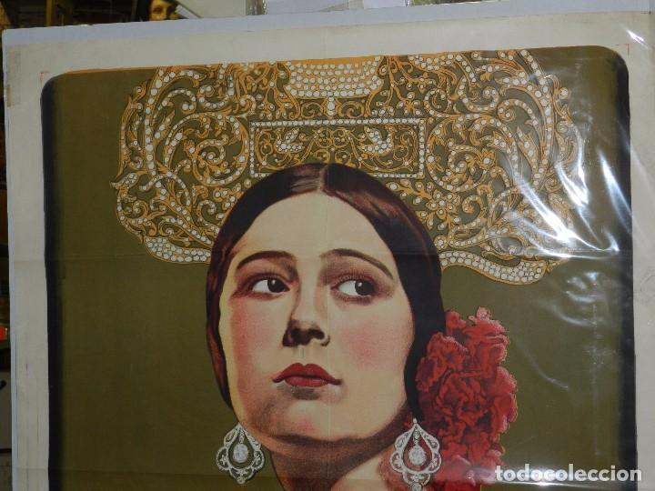 Cine: (M) CARTEL ORIGINAL DE CONCHA PIQUER - EL NEGRO QUE TENIA EL ALMA BLANCA 1927 BENITO PEROJO - Foto 2 - 89086684