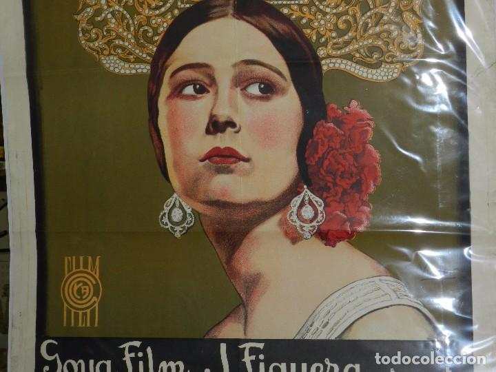 Cine: (M) CARTEL ORIGINAL DE CONCHA PIQUER - EL NEGRO QUE TENIA EL ALMA BLANCA 1927 BENITO PEROJO - Foto 3 - 89086684