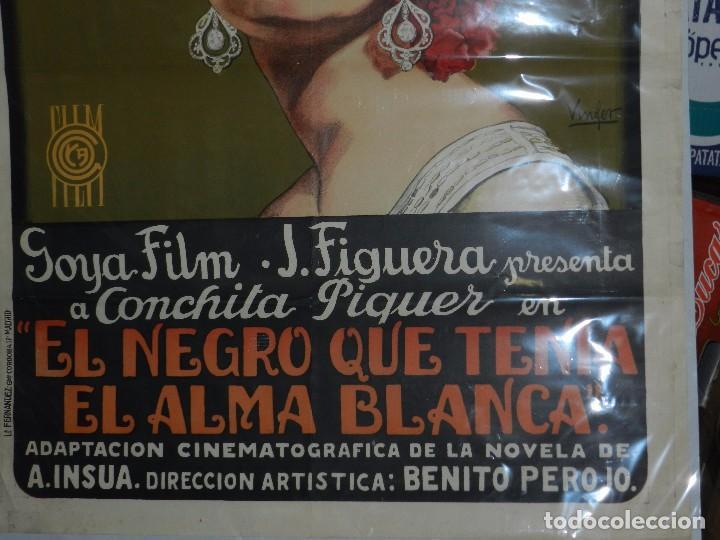 Cine: (M) CARTEL ORIGINAL DE CONCHA PIQUER - EL NEGRO QUE TENIA EL ALMA BLANCA 1927 BENITO PEROJO - Foto 4 - 89086684