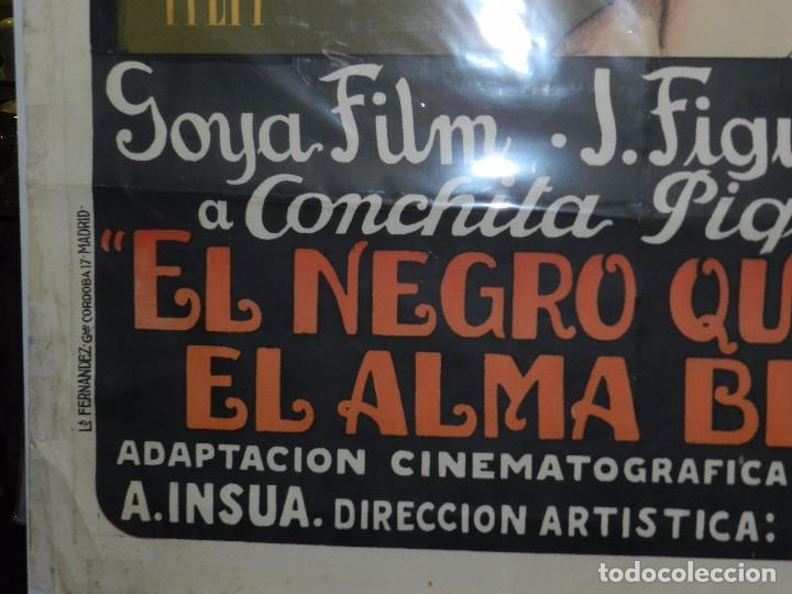 Cine: (M) CARTEL ORIGINAL DE CONCHA PIQUER - EL NEGRO QUE TENIA EL ALMA BLANCA 1927 BENITO PEROJO - Foto 5 - 89086684
