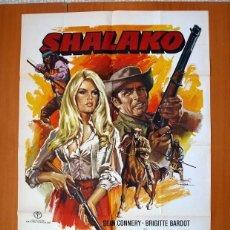 Cine: SHALAKO - CARTEL TAMAÑO 100X70 - SEAN CONNERY, BRIGITTE BARDOT, STEPHEN BOYD. Lote 89184568